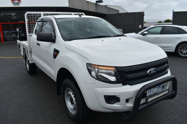 Used Ford Ranger PX XL Hi-Rider Wantirna South, 2013 Ford Ranger PX XL Hi-Rider White 6 Speed Sports Automatic Cab Chassis