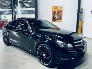 2013 Mercedes-Benz C-Class C204 MY13 C180 7G-Tronic + Black 7 Speed Sports Automatic Coupe