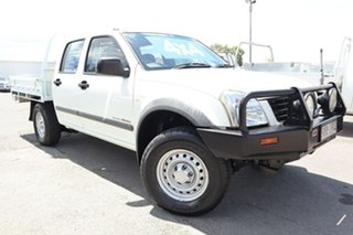 2005 Holden Rodeo RA MY05 LX Crew Cab White 5 Speed Manual Cab Chassis.