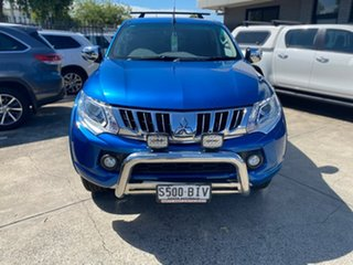 2015 Mitsubishi Triton MQ MY16 GLS Double Cab Blue 6 Speed Manual Utility.