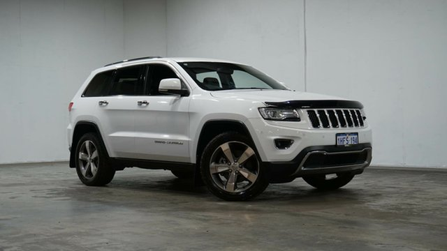 Used Jeep Grand Cherokee WK MY15 Limited Welshpool, 2014 Jeep Grand Cherokee WK MY15 Limited White 8 Speed Sports Automatic Wagon
