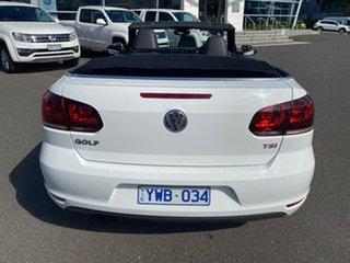 2012 Volkswagen Golf VI MY12 118TSI DSG White 7 Speed Sports Automatic Dual Clutch Cabriolet