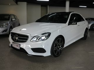 2015 Mercedes-Benz E-Class W212 805MY E400 7G-Tronic + White 7 Speed Sports Automatic Sedan.