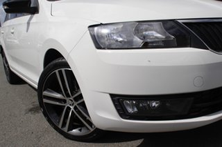 2016 Skoda Rapid NH MY16 Spaceback Candy White 6 Speed Manual Hatchback.