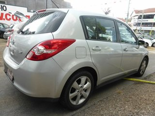 2012 Nissan Tiida C11 Series 3 MY10 ST Silver 4 Speed Automatic Hatchback.