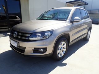 2013 Volkswagen Tiguan 5N MY14 103TDI DSG 4MOTION Pacific Bronze Gold 7 Speed.