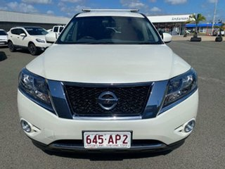 2015 Nissan Pathfinder R52 MY15 ST X-tronic 4WD White 1 Speed Constant Variable Wagon