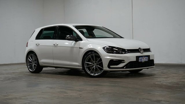 Used Volkswagen Golf 7.5 MY18 R DSG 4MOTION Wolfsburg Edition Welshpool, 2017 Volkswagen Golf 7.5 MY18 R DSG 4MOTION Wolfsburg Edition White 7 Speed