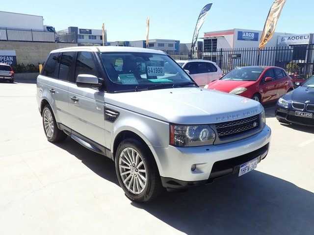 Used Land Rover Range Rover Sport L320 11MY TDV6 Luxury Wangara, 2011 Land Rover Range Rover Sport L320 11MY TDV6 Luxury Silver Birch 6 Speed Sports Automatic Wagon