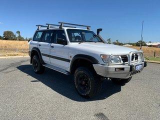 1999 Nissan Patrol GU ST (4x4) White 4 Speed Automatic 4x4 Wagon.