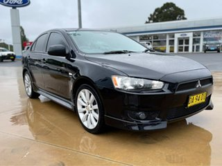 2011 Mitsubishi Lancer VR-X Black Manual Hatchback.