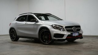 2015 Mercedes-Benz GLA-Class X156 805+055MY GLA45 AMG SPEEDSHIFT DCT 4MATIC Polar Silver 7 Speed.