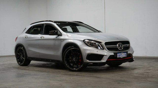 Used Mercedes-Benz GLA-Class X156 805+055MY GLA45 AMG SPEEDSHIFT DCT 4MATIC Welshpool, 2015 Mercedes-Benz GLA-Class X156 805+055MY GLA45 AMG SPEEDSHIFT DCT 4MATIC Polar Silver 7 Speed