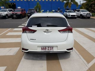 2015 Toyota Corolla ZRE182R Ascent Sport Glacier White 6 Speed Manual Hatchback.