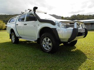 2011 Mitsubishi Triton MN MY11 GLX (4x4) White 4 Speed Automatic 4x4 Double Cab Utility.