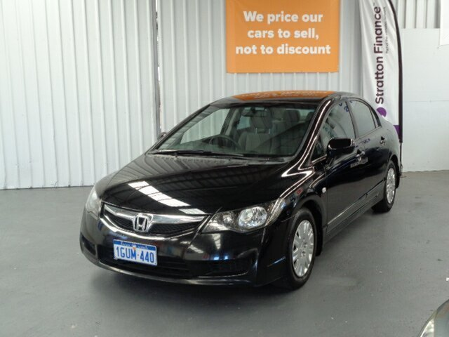 Used Honda Civic 8th Gen MY10 VTi-L Rockingham, 2010 Honda Civic 8th Gen MY10 VTi-L Black 5 Speed Automatic Sedan
