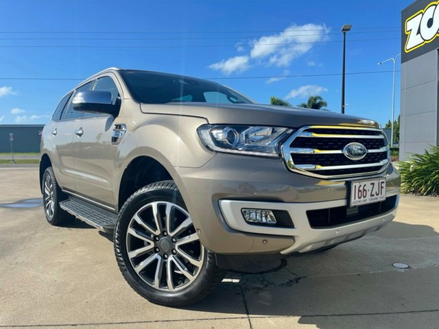 Used Ford Everest UA II 2019.00MY Titanium Townsville, 2019 Ford Everest UA II 2019.00MY Titanium Bronze 10 Speed Sports Automatic SUV