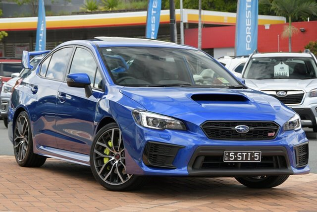 Demo Subaru WRX V1 MY21 STI AWD Premium Newstead, 2020 Subaru WRX V1 MY21 STI AWD Premium WR Blue Mica 6 Speed Manual Sedan