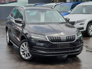 2019 Skoda Karoq NU MY20 110TSI DSG FWD Black 7 Speed Sports Automatic Dual Clutch Wagon.
