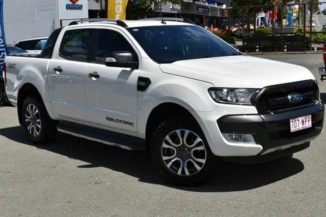 Used Ford Ranger PX MkII MY17 Wildtrak 3.2 (4x4) Underwood, 2016 Ford Ranger PX MkII MY17 Wildtrak 3.2 (4x4) White 6 Speed Automatic Dual Cab Pick-up