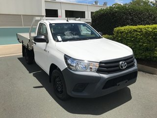 2016 Toyota Hilux TGN121R Workmate 4x2 Glacier 5 speed Manual Cab Chassis.