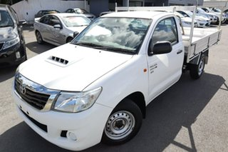 2013 Toyota Hilux KUN16R MY14 SR 4x2 White 5 Speed Manual Cab Chassis.