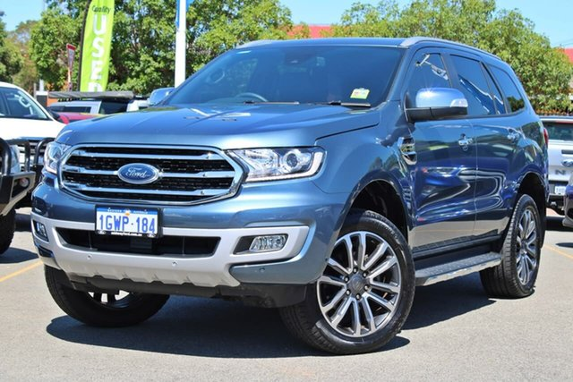 Used Ford Everest UA II 2019.75MY Titanium Midland, 2019 Ford Everest UA II 2019.75MY Titanium Blue 10 Speed Sports Automatic SUV