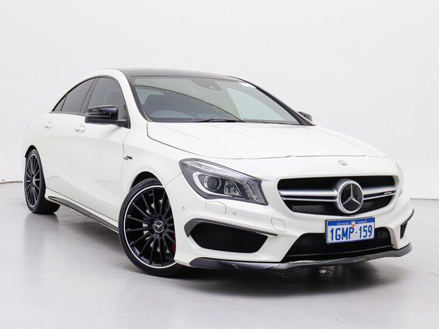 Used Mercedes-Benz CLA45 117 AMG, 2014 Mercedes-Benz CLA45 117 AMG White 7 Speed Automatic Coupe