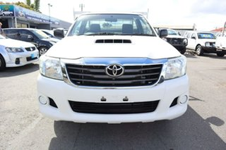 2013 Toyota Hilux KUN16R MY14 SR 4x2 White 5 Speed Manual Cab Chassis