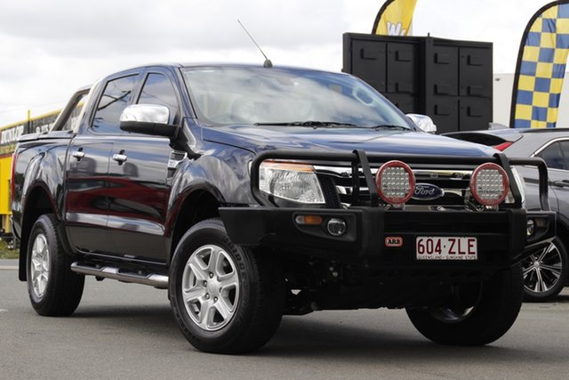 Used Ford Ranger PX MkII XLT Double Cab 4x2 Hi-Rider Rocklea, 2015 Ford Ranger PX MkII XLT Double Cab 4x2 Hi-Rider Black Mica 6 Speed Sports Automatic Utility