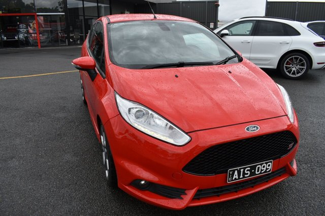 Used Ford Fiesta WZ ST Wantirna South, 2016 Ford Fiesta WZ ST Red/Black 6 Speed Manual Hatchback