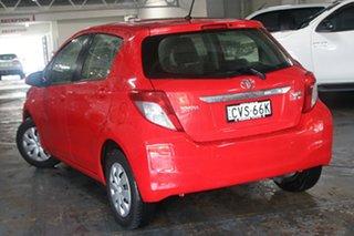 2014 Toyota Yaris NCP130R YR Cherry 5 Speed Manual Hatchback.