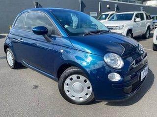 2013 Fiat 500 Series 1 Pop Dualogic Blue 5 Speed Sports Automatic Single Clutch Hatchback.