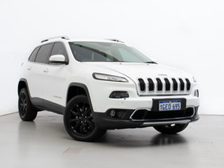 2015 Jeep Cherokee KL MY16 Limited (4x4) White 9 Speed Automatic Wagon.