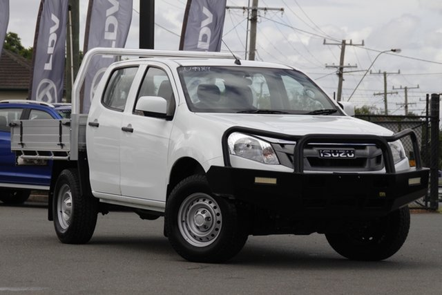 Used Isuzu D-MAX MY15 SX Crew Cab Rocklea, 2015 Isuzu D-MAX MY15 SX Crew Cab Splash White 5 Speed Sports Automatic Utility