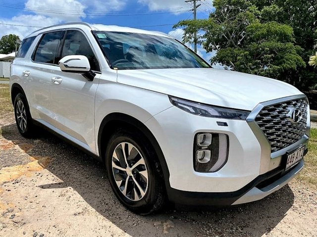 Demo Hyundai Palisade LX2.V1 MY21 2WD Mount Gravatt, 2020 Hyundai Palisade LX2.V1 MY21 2WD White Cream 8 Speed Sports Automatic Wagon