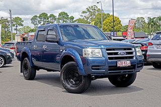 2007 Ford Ranger PJ XL Crew Cab 4x2 Hi-Rider Andaman Bl 5 Speed Manual Utility.