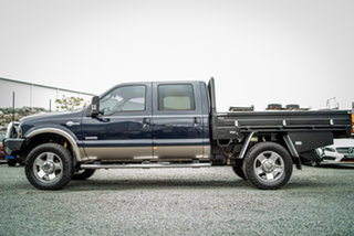 2006 Ford F250 06 Upgrade F250 King Ranch Blue Jeans 5 Speed Automatic Cab Chassis.