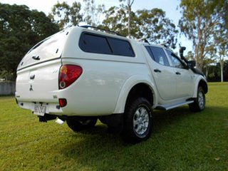 2011 Mitsubishi Triton MN MY11 GLX (4x4) White 4 Speed Automatic 4x4 Double Cab Utility