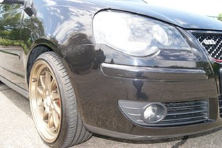2008 Volkswagen Polo 9N MY08 Upgrade GTi Black 5 Speed Manual Hatchback.