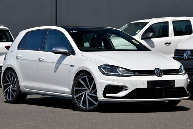 Demo Volkswagen Golf 7.5 MY20 R DSG 4MOTION Moorabbin, 2020 Volkswagen Golf 7.5 MY20 R DSG 4MOTION White 7 Speed Sports Automatic Dual Clutch Hatchback