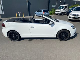 2012 Volkswagen Golf VI MY12 118TSI DSG White 7 Speed Sports Automatic Dual Clutch Cabriolet.