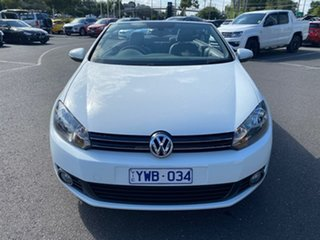 2012 Volkswagen Golf VI MY12 118TSI DSG White 7 Speed Sports Automatic Dual Clutch Cabriolet