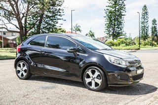 2012 Kia Rio UB MY13 SLS Black 6 Speed Sports Automatic Hatchback.