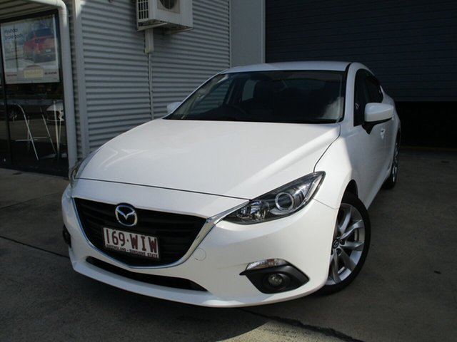 Used Mazda 3 BM5238 SP25 SKYACTIV-Drive Caboolture, 2016 Mazda 3 BM5238 SP25 SKYACTIV-Drive White 6 Speed Sports Automatic Sedan