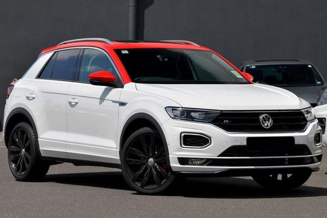 Demo Volkswagen T-ROC A1 MY20 140TSI DSG 4MOTION X Moorabbin, 2020 Volkswagen T-ROC A1 MY20 140TSI DSG 4MOTION X White 7 Speed Sports Automatic Dual Clutch Wagon