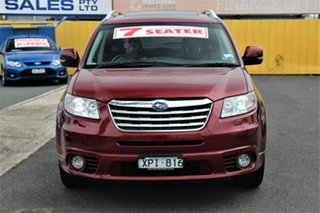 2010 Subaru Tribeca B9 MY10 R AWD Premium Pack Burgundy & Red 5 Speed Sports Automatic Wagon.