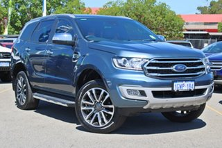 2019 Ford Everest UA II 2019.75MY Titanium Blue 10 Speed Sports Automatic SUV.