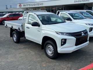 2020 Mitsubishi Triton MR MY21 GLX White 6 Speed Sports Automatic Cab Chassis.