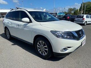2015 Nissan Pathfinder R52 MY15 ST X-tronic 4WD White 1 Speed Constant Variable Wagon.